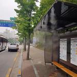 군포시, 유동인구가 많은 버스정류장 6곳 '쿨링포그' 시스템 가동