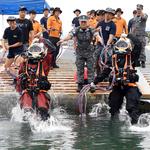 평택 해군2함대 구조작전중대, 해양 재난사고 대비 구조잠수훈련 실시
