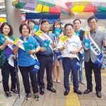 민주당 평택갑지역위, 송북시장서 '제로페이'  홍보 캠페인'