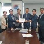 이현재 의원, 대광위 방문 9호선 하남 연장 확정 서명부 전달