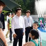 의정부시, 추동웰빙공원 물놀이장 환경 위험요소 등 현장 점검