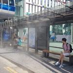 남동구 폭염 대비 버스정류장 등 9곳에 쿨링포그 시스템 시범 운영
