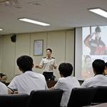 고교생들 소방대원의 생생한 이야기에 '귀 쫑긋'