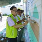 화문석마을 벽에 알록달록 그림 그렸죠 농협 강화군지부 농촌마을 가꾸기 운동