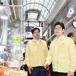 조명래 환경부 장관·염태영 수원시장, 수원시 폭염대응 사업 현장 점검