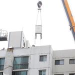 수원 아파트 '갈라진 구조물' 하나하나 철거